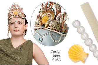 Trend Swatch - Crown with Friendly Plastic, Genuine Shells and White Lotus? Cultured Freshwater Pearls