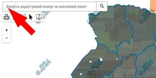 Пошук земельної ділянки за кадастровим номером