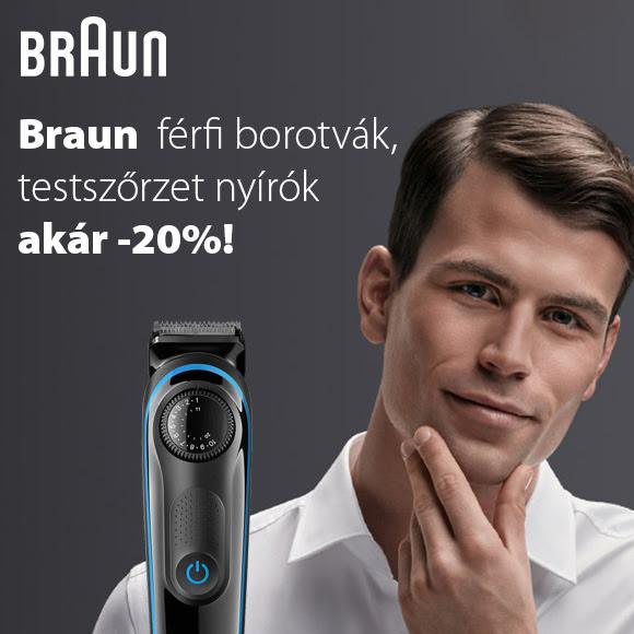 Braun férfi borotvák