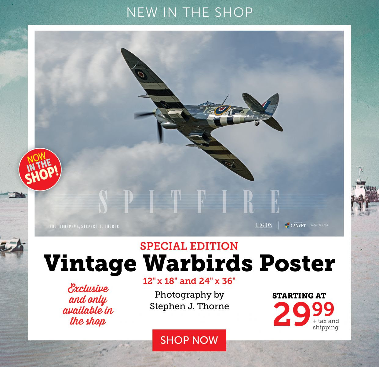 Vintage Warbirds Poster - Spitfire Version 2