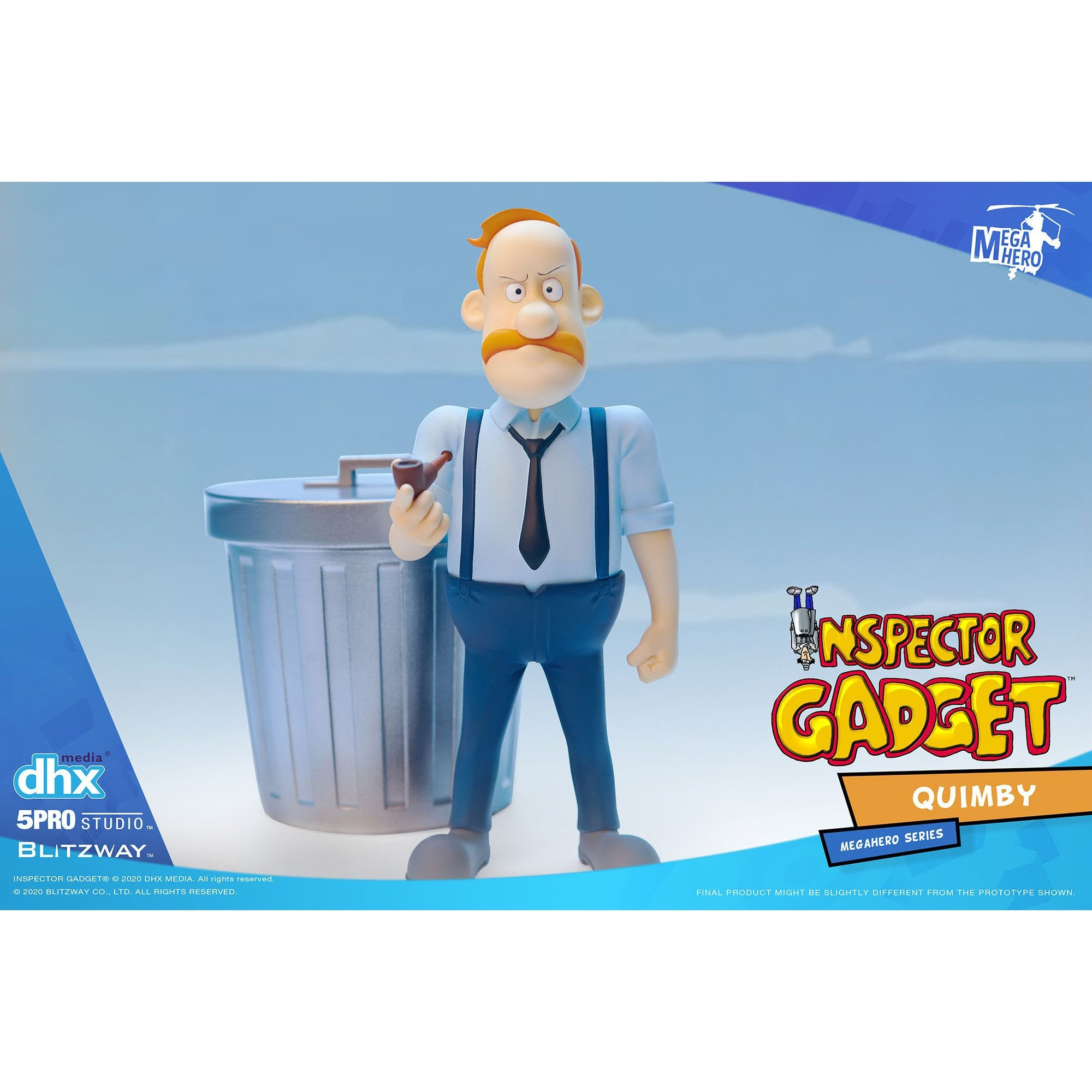 Image of Inspector Gadget MEGAHERO Series - Quimby 1:12 Scale Action Figure - Q4 2020