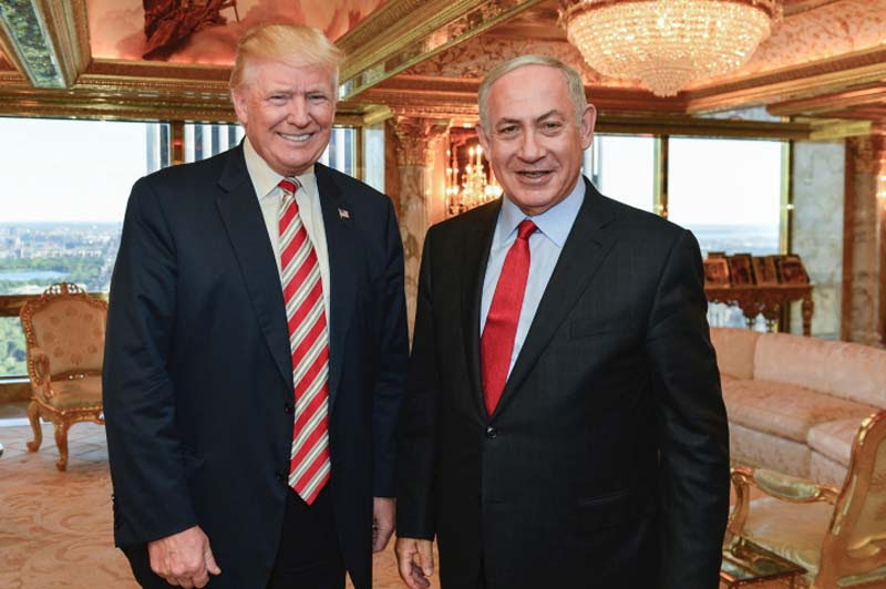 Prime Minister Benjamin Netanyahu meets with Republican Presidential candidate Donald Trump in New York, September 25, 2016.