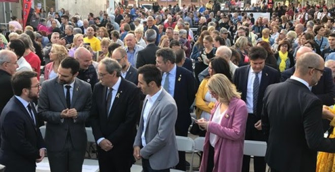 Quim Torra en el acto institucional en Sant Julià de Ramis (Girona). - EUROPA PRESS