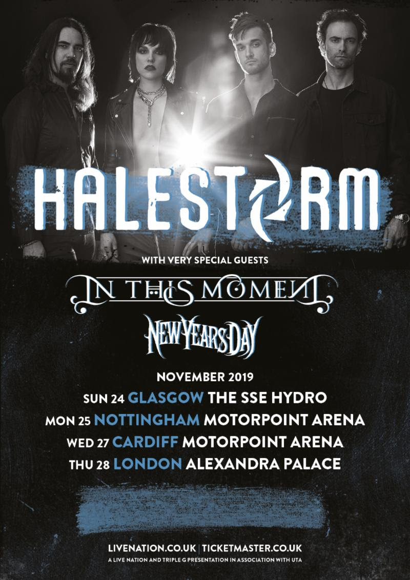 halestorm announce uk arena tour with in this moment new years day news rock sound magazine. Black Bedroom Furniture Sets. Home Design Ideas
