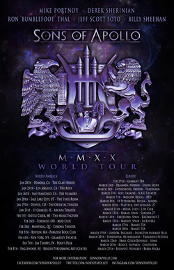 "Sons Of Apollo Release New Album ""MMXX"" Due Out 1/17, World Tour Begins 1/24"