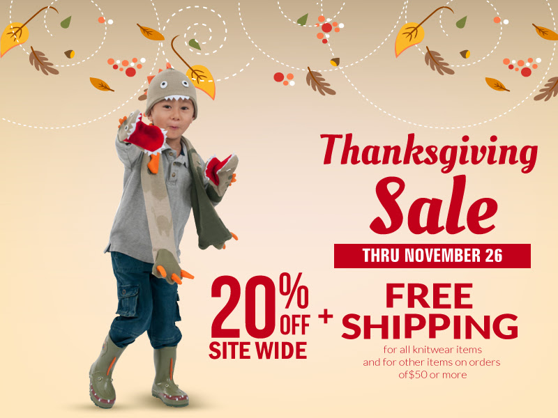 Kidorable Thanksgiving Sale -.