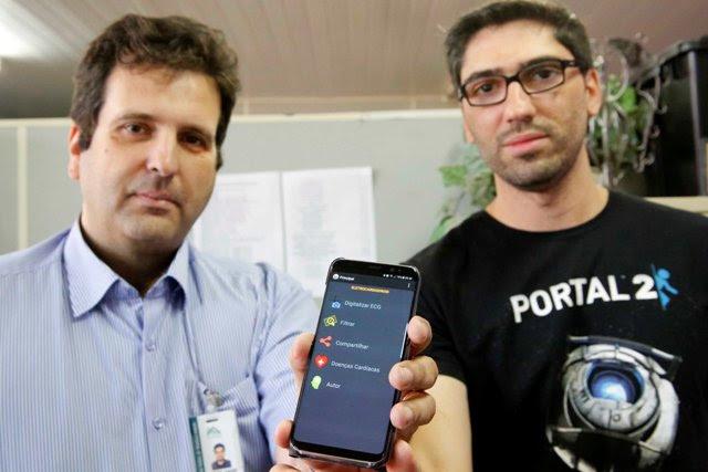 professor david e João Paulo mostram aplicativo