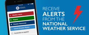 FEMA App Provides Weather Alerts from the National Weather Service
