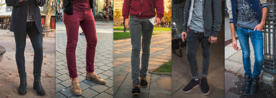 Skinny jeans street style in Strasbourg October 2013. Credit: Claude TRUONG-NGOC
