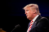 Donald J. Trump at a campaign event in Cincinnati.