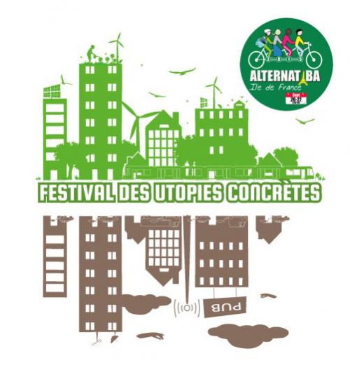 Affiche du festival des utopies concrètes, 2014.