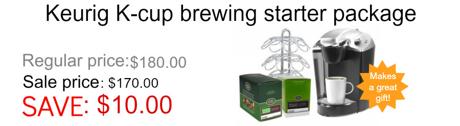 Keurig K-cup brewing starter package
