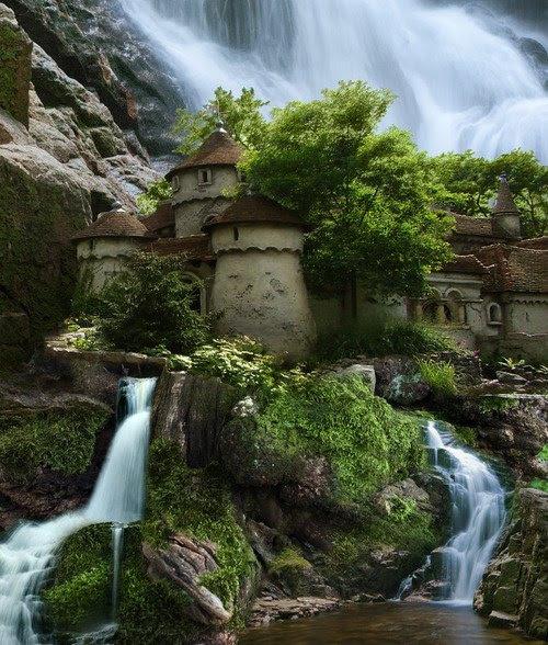 Waterfall-Castle-Poland