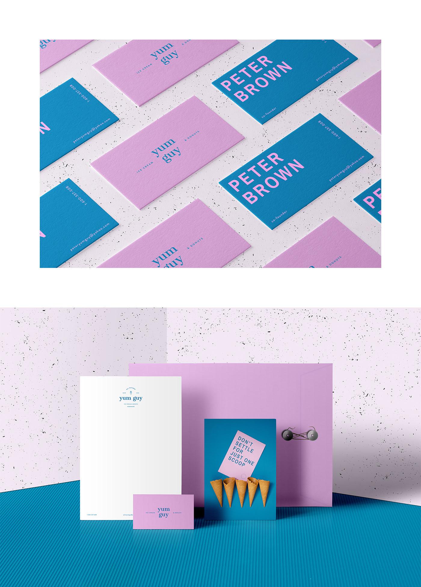 Bright & Fun Yum Guy Ice Cream Branding by STRETCHD