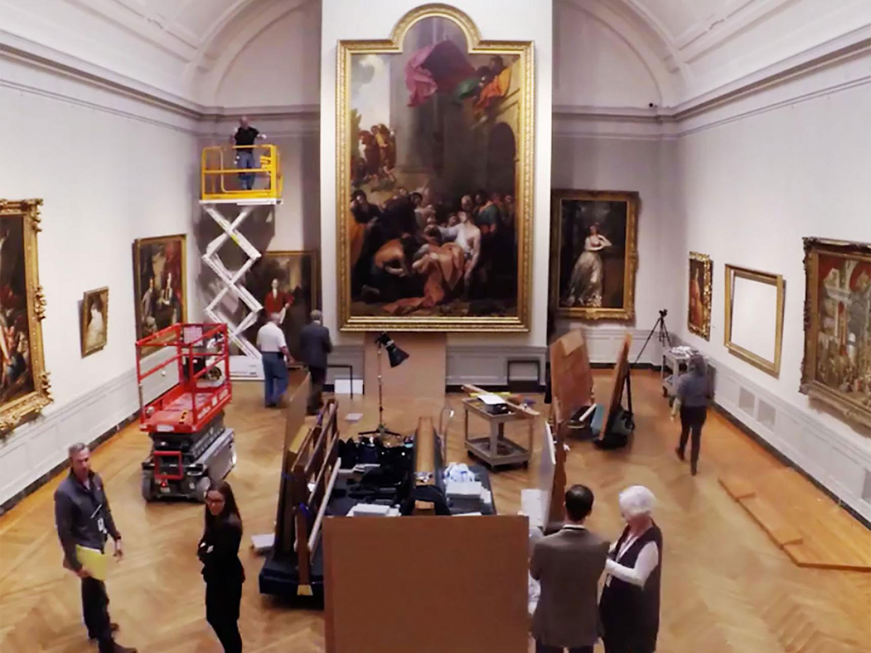 Installing the Artists on the Move in 18th-Century Europe gallery (Gallery 246).