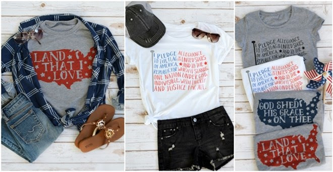 HOT!! Patriotic Graphic Tees f...