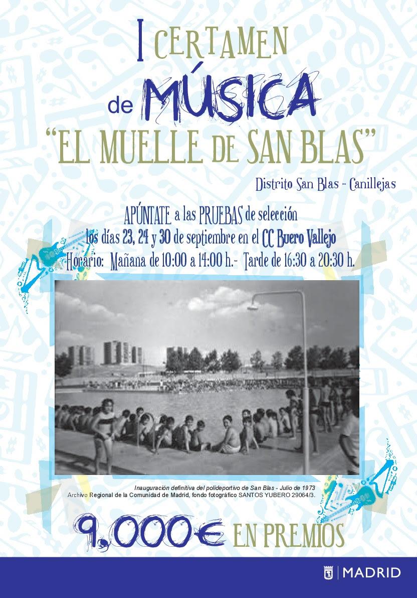 """I Certamen de Música """"El Muelle de San Blas"""