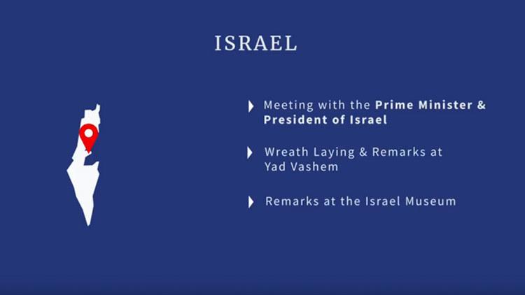 Un vídeo de la Casa Blanca muestra un Israel sin los Altos del Golán ni Cisjordania