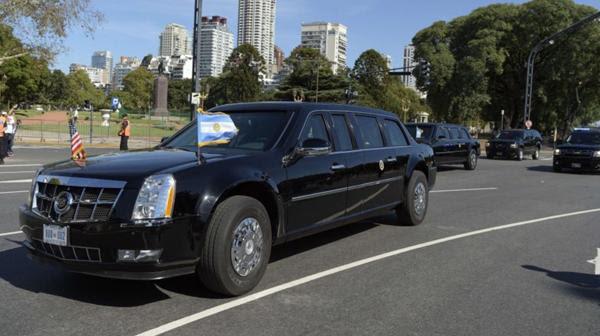 """""""La bestia"""" que usó Barack Obama en su visita a la Argentina (AFP)"""