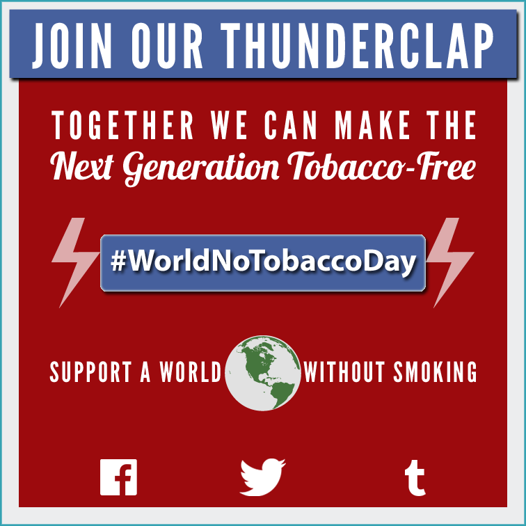 Join the World No Tobacco Day Thunderclap
