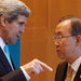 Secretary of State John Kerry spoke with United Nations Secretary General Ban Ki-Moon on Wednesday as the peace conference on Syria opened in Montreux, Switzerland.