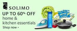 Up to 60% off Solimo: Home & kitchen products