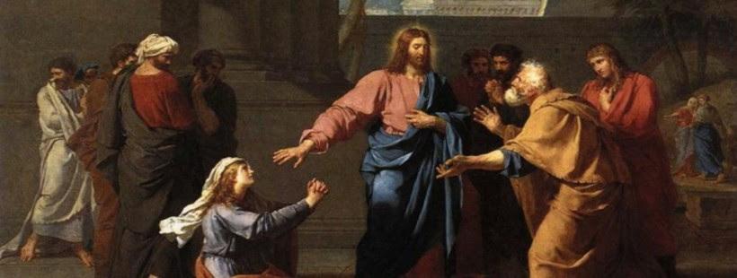 Znalezione obrazy dla zapytania A oto kobieta kananejska, wyszedłszy z tamtych okolic, wołała: Ulituj się nade mną, Panie, Synu Dawida!